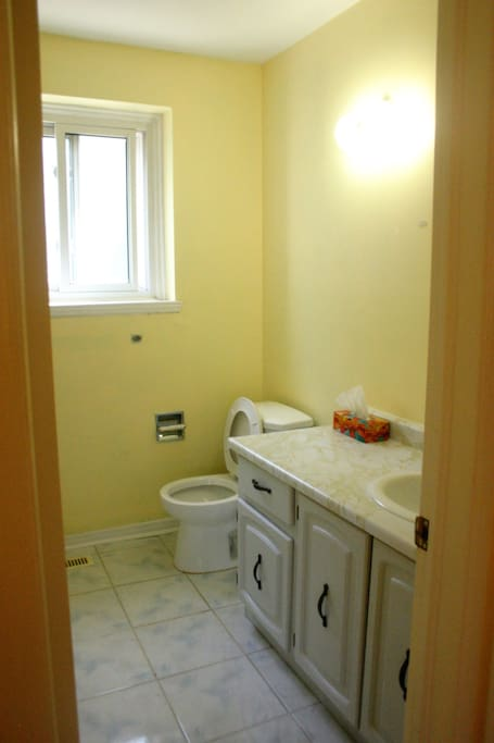 Private washroom in the mater bedroom.