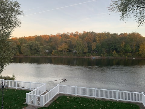 Escape to The Riverfront; On the Delaware River