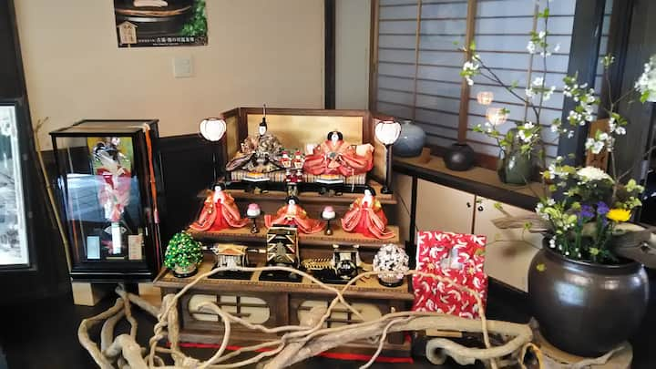 Seasonal display at the Onsen inn