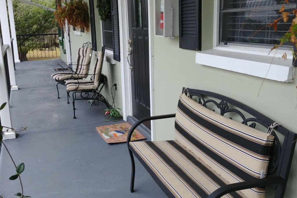 Seating outside