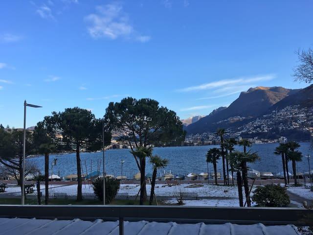 Splendido appartamento centrale e fronte lago - Paradiso - Huoneisto
