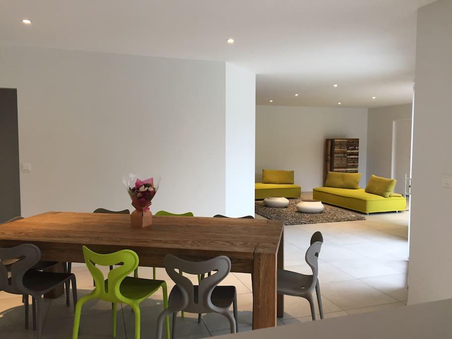 salle à manger-salon