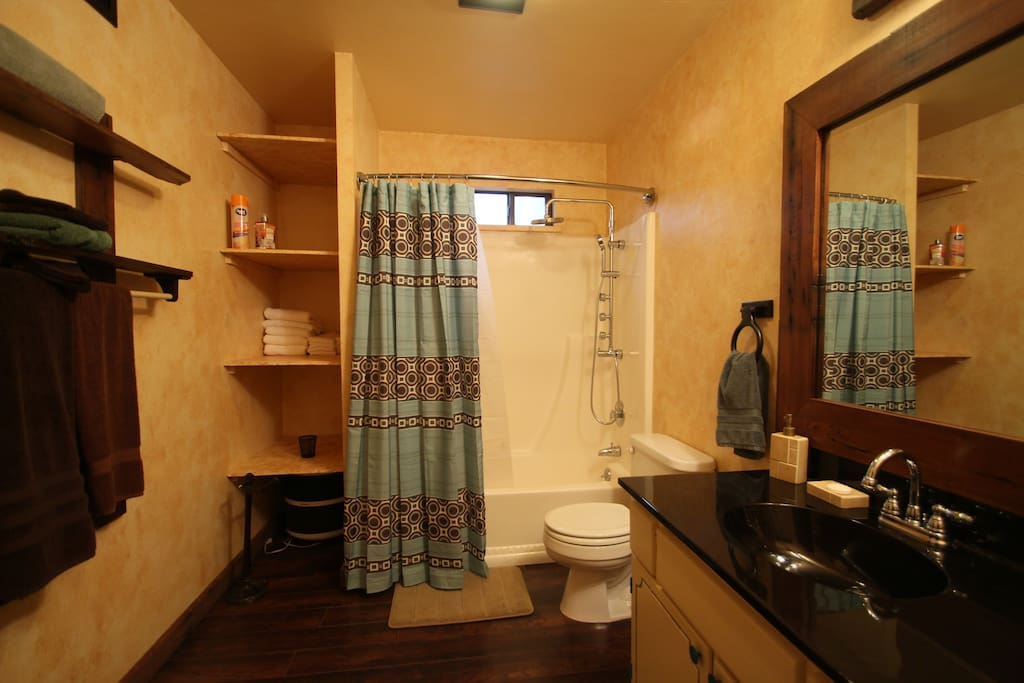 Large master bathroom recently remodeled.