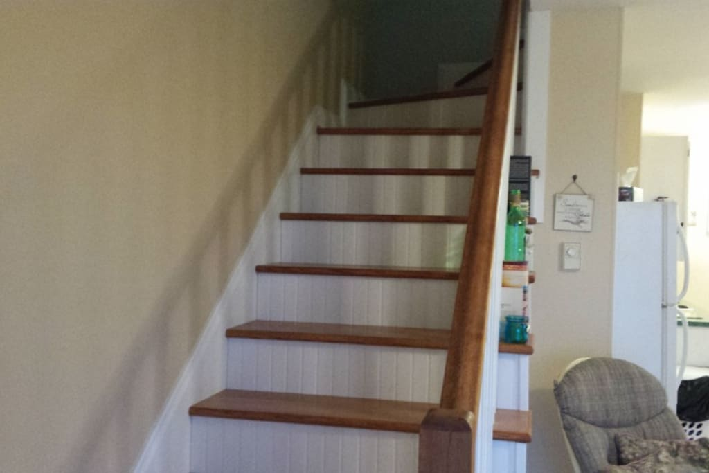 Stairs to bedrooms.