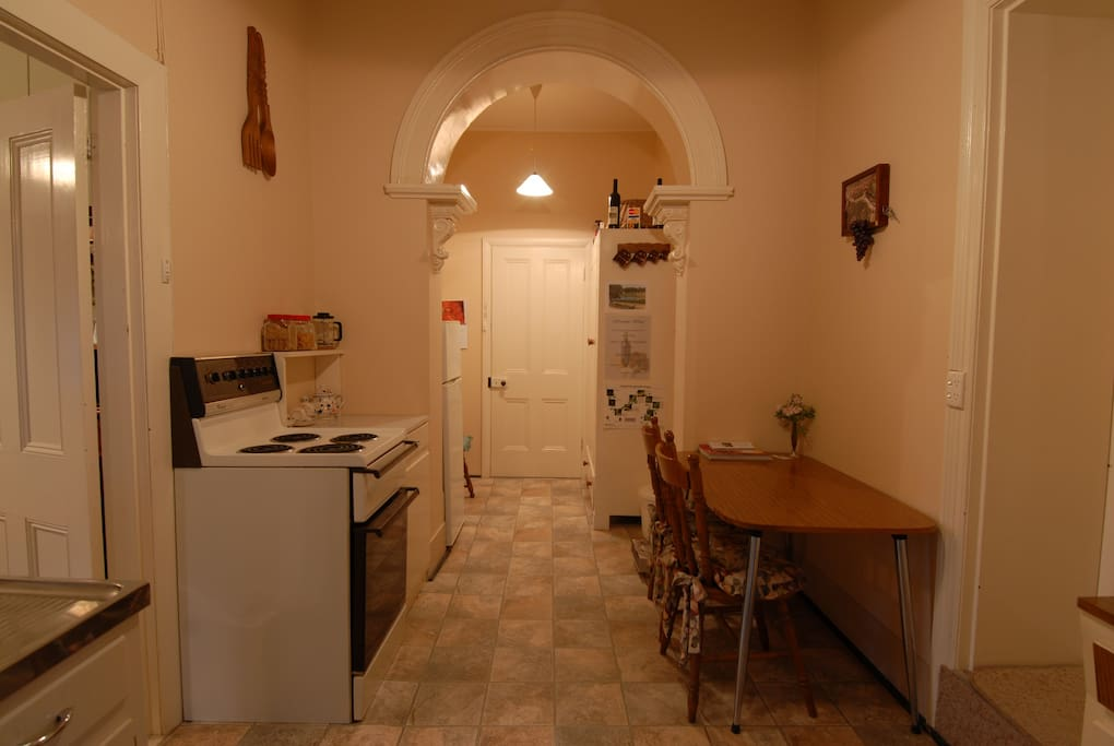Enter into fully equipped guest kitchen