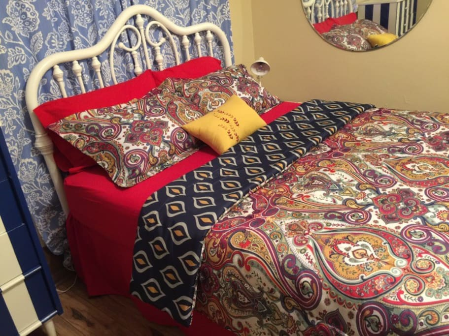 Beautiful linens help you feel at home every night.