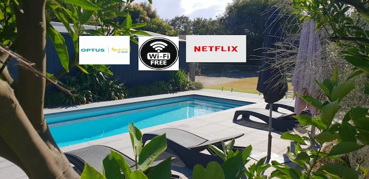 Pool to Sand in 800mtrs - Netflix, wifi and linen