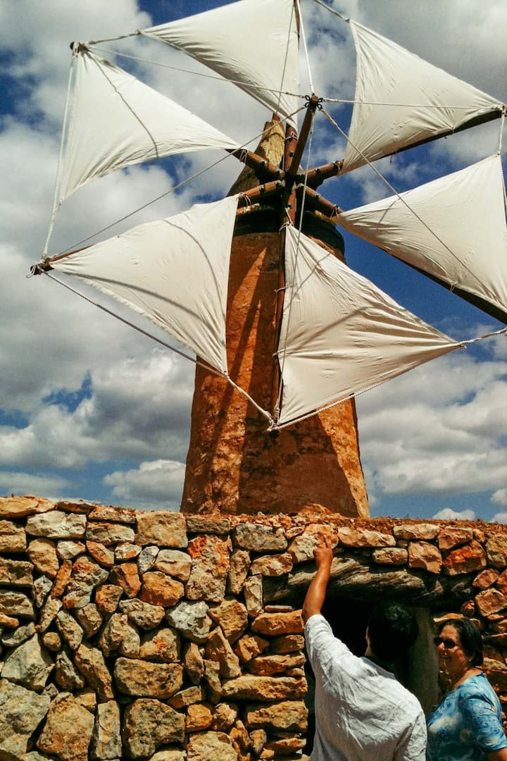 the mill with the sails