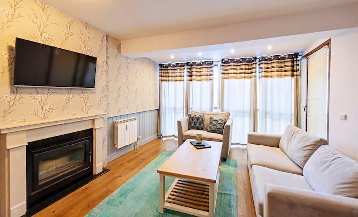 Stylish 1-bedroom apartment near the ski road