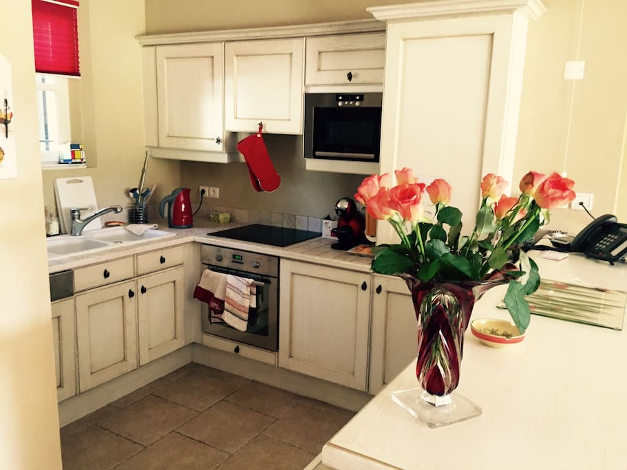 We have fitted our kitchen with everything you need for a stress-free stay