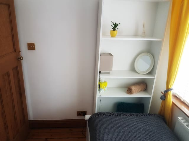 Single room with single bed