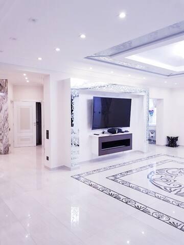 Living room with hall