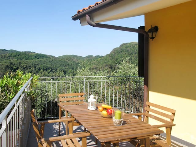 Apartment Ca`del Lovi in Chiatri Puccini for 4 persons