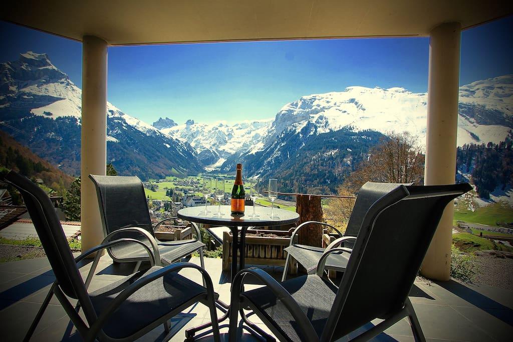 Apartment B  Terrace with Stunning panoramic Views