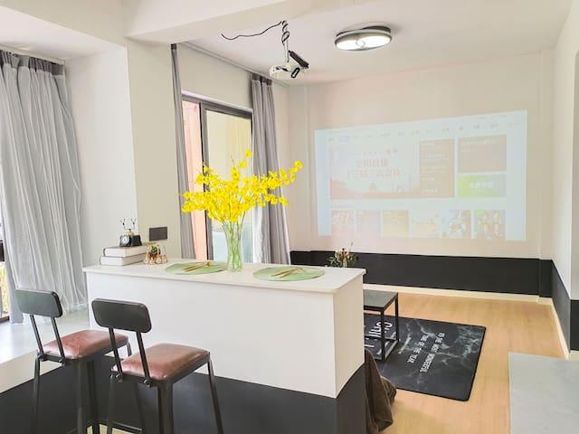 大学城/黑白性冷淡风/高清投影