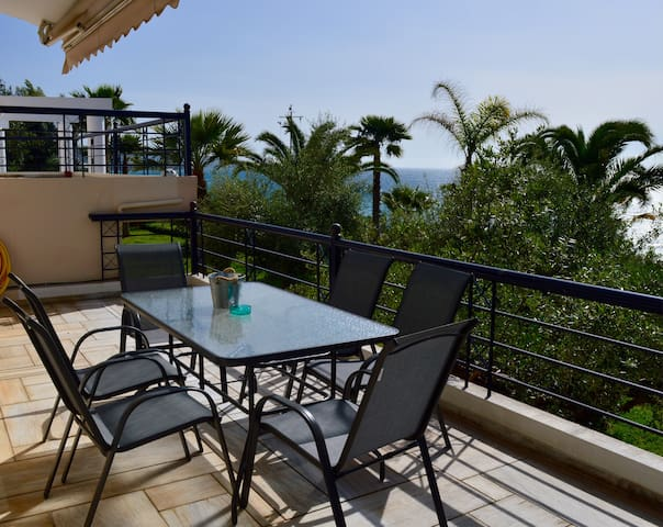 Studio with garden/sea view - Kato Verga - อพาร์ทเมนท์