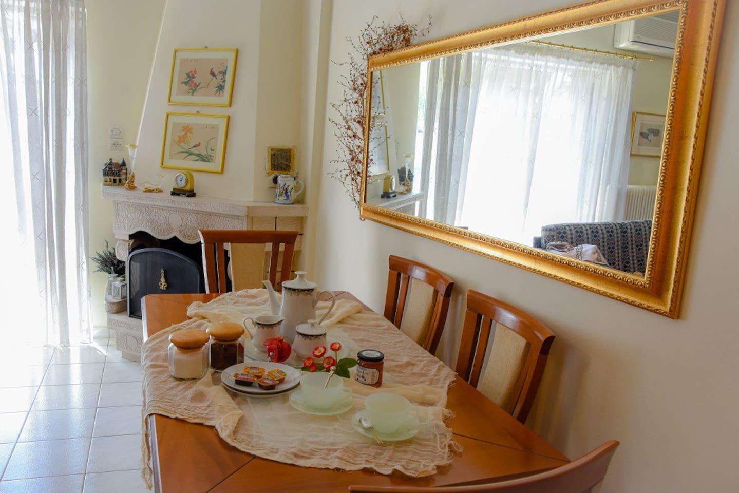 Family home breakfast