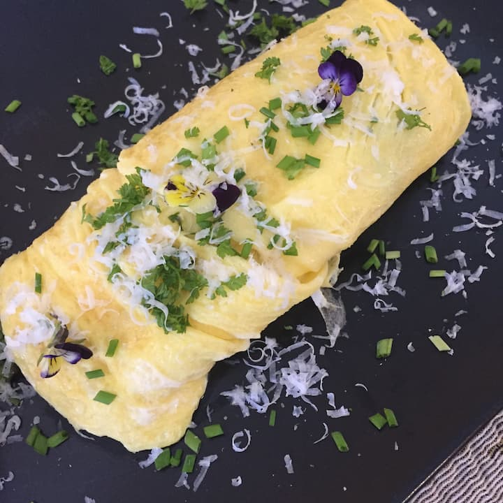 A French-style omelet