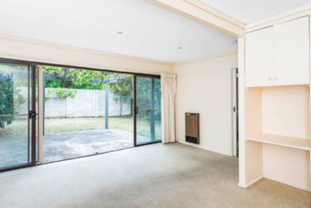 Floor to be replaced and room to be furnished. Private rear courtyard with gas BBQ
