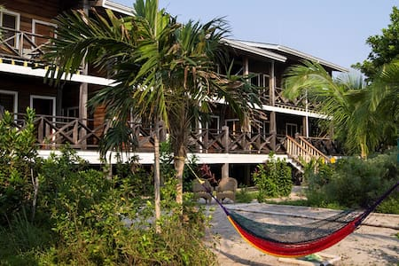 Private Belize Island Studio (Beach Level 16): Easy Boat Ride to Blue Hole: We organize it all for y - เบลิซ ซิตี้ - อพาร์ทเมนท์