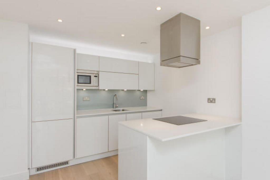 High spec kitchen.