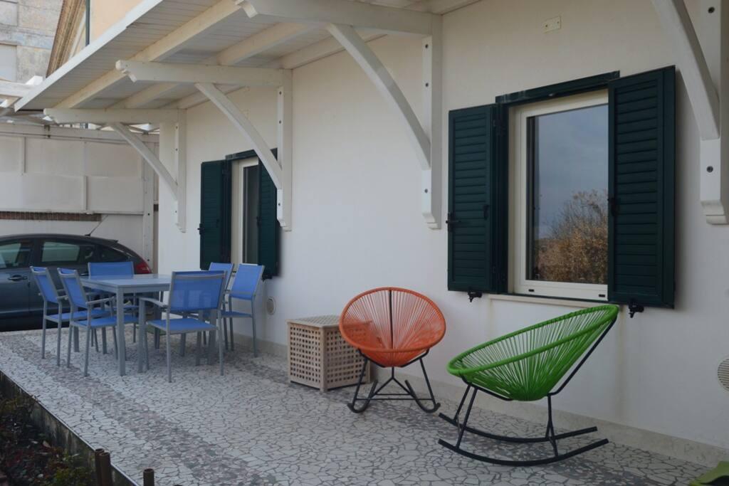 Il terrazzo sul davanti