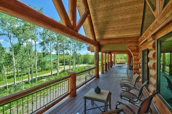 Large Vega Lake Colorado Luxury Real Log Cabin