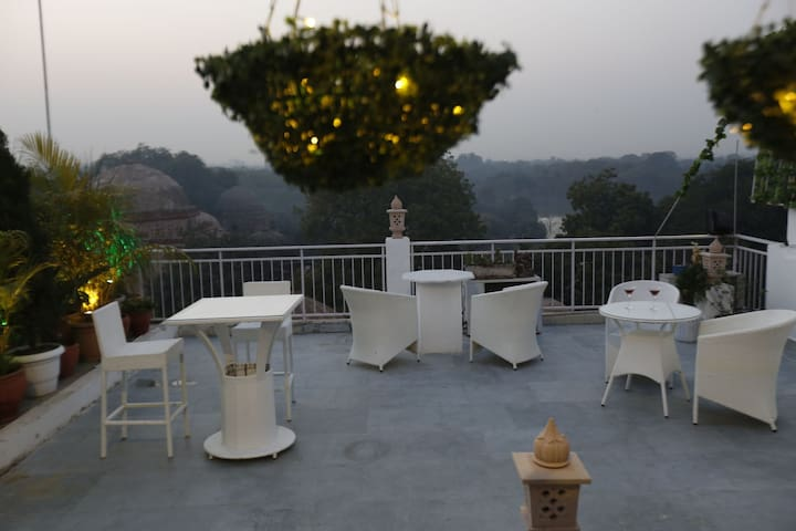 Common terrace for the guests.