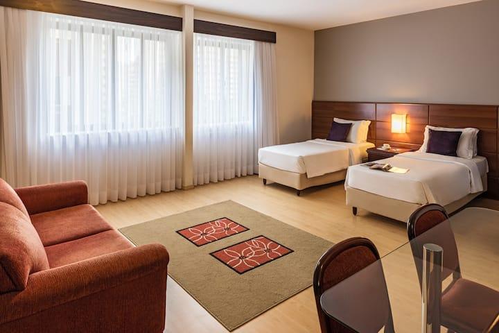 Apartamento confortável, localização privilegiada