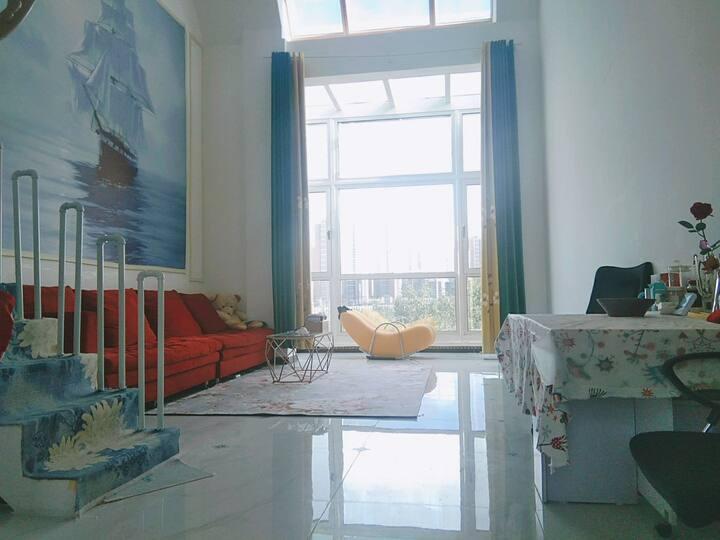 【东郡Mark墅】近国际医院和高尔夫俱乐部,离北京市副中心3公里,挑高客厅,南北通透,大床房