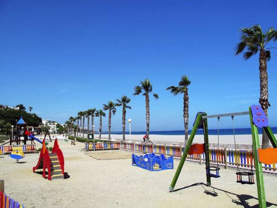 playground and a beach