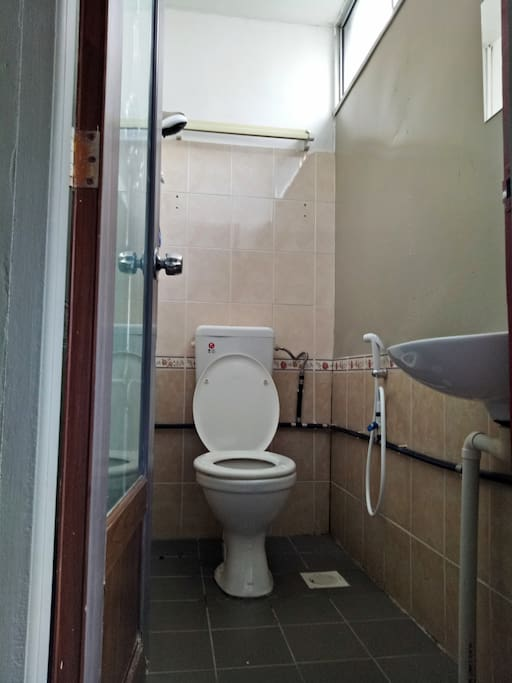 attached private bathroom/toilet