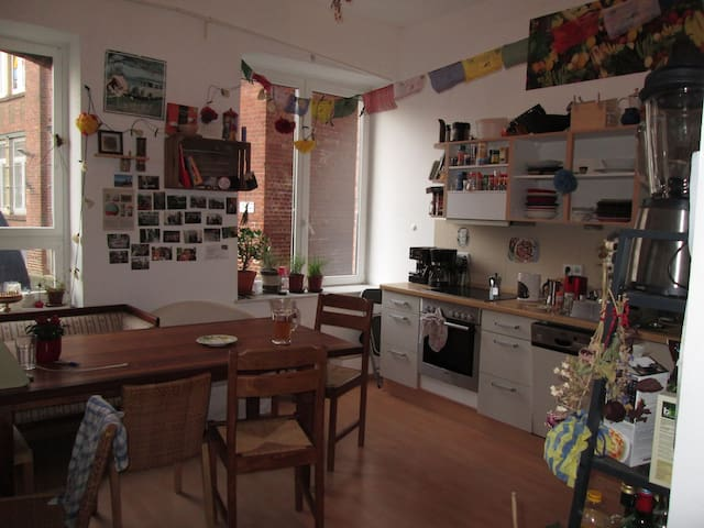 Schönes Zimmer in lieber 4er WG - Leipzig - Apartamento
