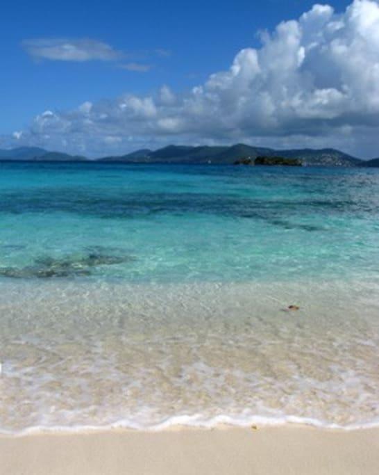 Amazing sand and beautiful Caribbean sea