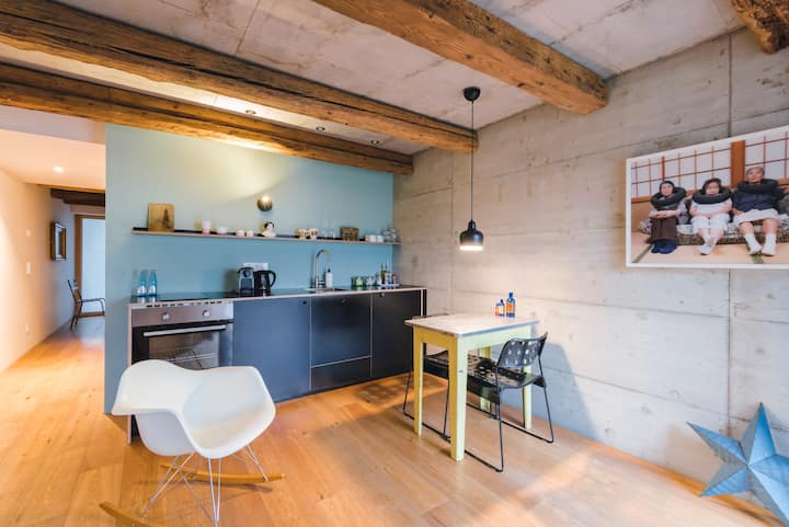 Design-Apartment in 200-year old barn