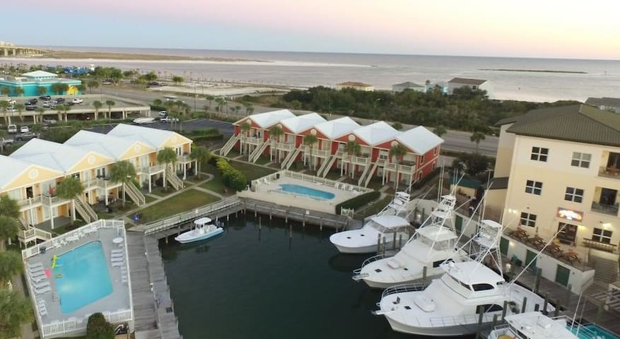 Waterfront Condo in Orange Beach at San Rock Cay!