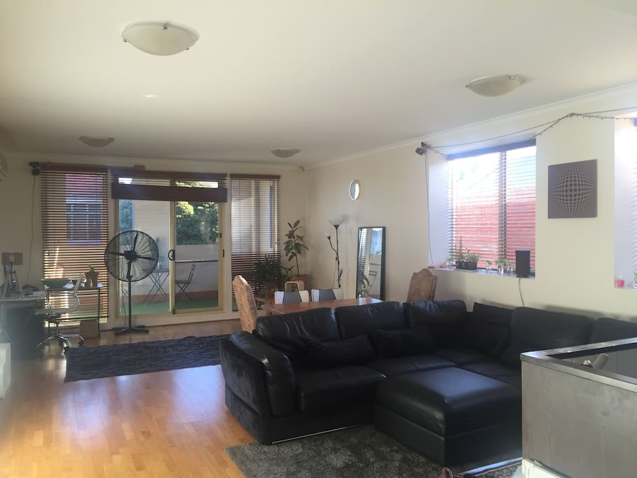 Super large living room, with kitchen attached
