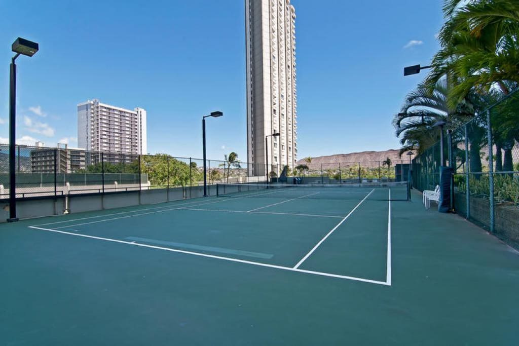 The Tennis Court Area