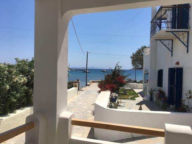 Modern Cycladic Apt + Seafront View ~ South Paros