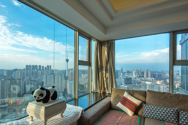 繁华中心的地带,便捷的交通。览城市的全貌,尽在我的公寓 - Chengdu - Leilighet