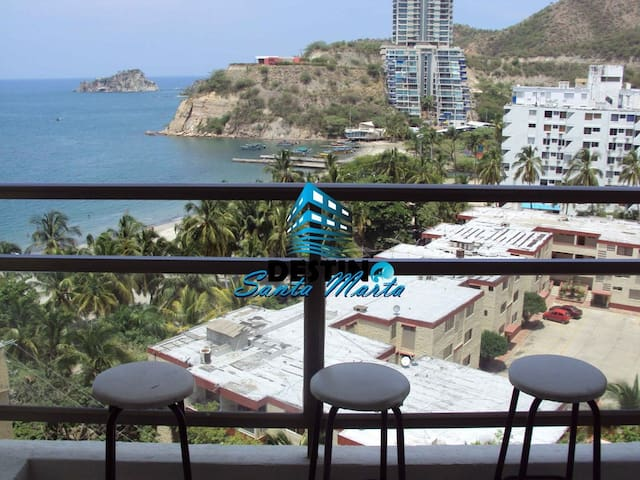 Apartamento Santa Marta vista al mar piscina playa - Gaira - Appartement