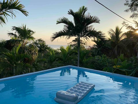 Secluded Ocean View Villa ~ Rustic Poolside Suite