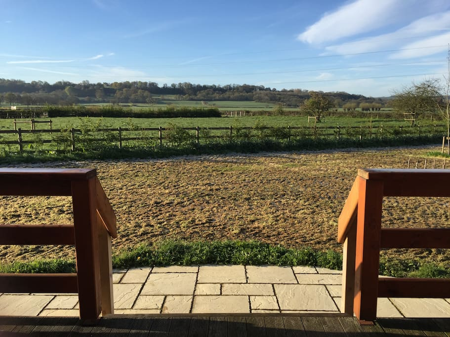 Your view from the decking, the perfect spot for breakfast or a cup of tea