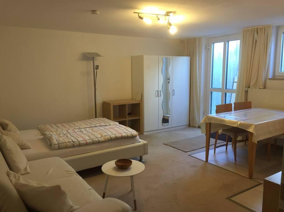 Privatzimmer mit franz. Bett (140x200)