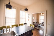Eat in kitchen with seating for four
