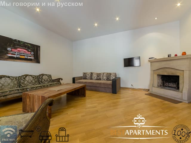 Best Apartments- Old Town 2 BDRM balcony&fireplace - Tallinna - Huoneisto
