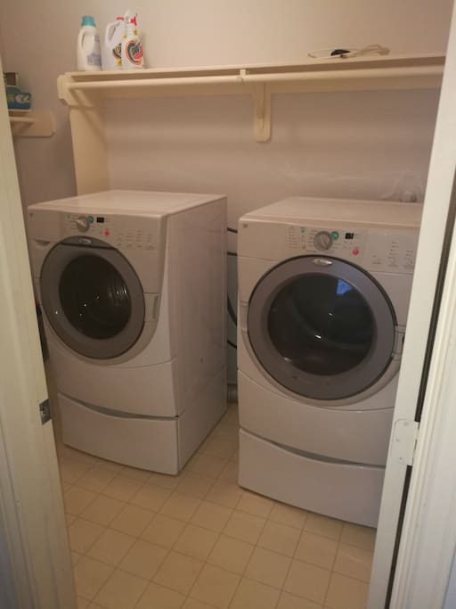 Laundry facilities inside the house
