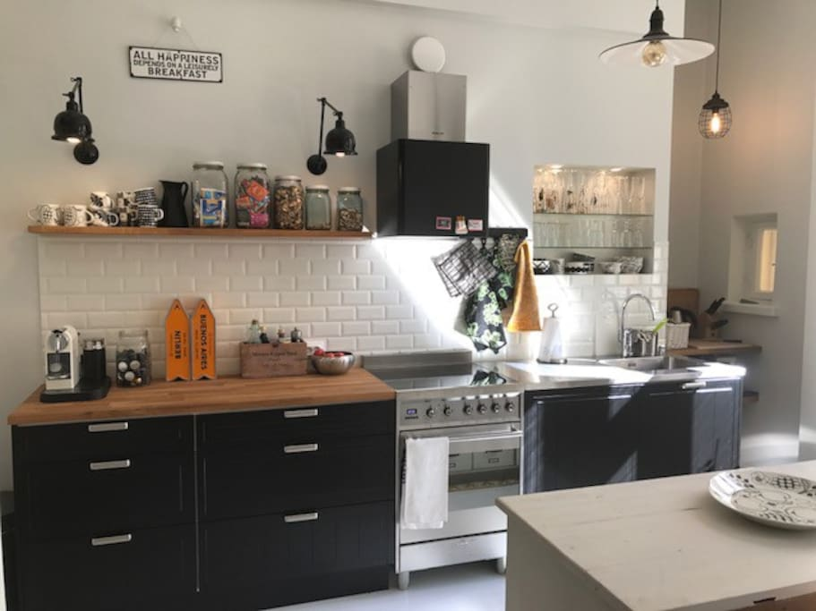 Fully equipped & shared kitchen