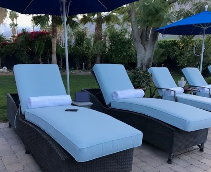 Lots of lounging areas