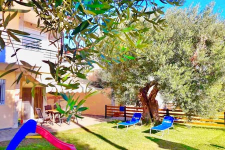 Olive Tree Villa with Private Yard near the Beach!